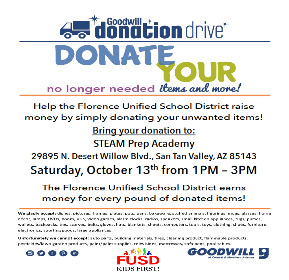 Donate to Goodwill and Support FUSD!
